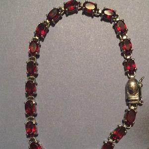 Beautiful Almandine Garnet Tennis Bracelet